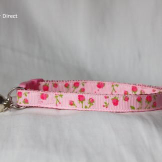 Handmade Rose Flower Pink Kitten & Cat Safety Collar 1
