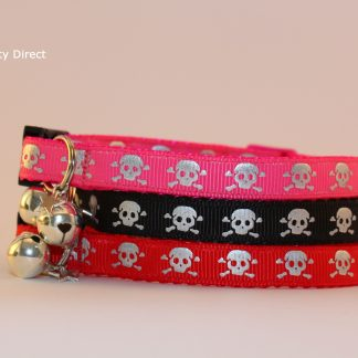 Skull and Crossbones Cat Kitten Safety Collars