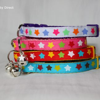 Handmade Fabric Stars Cat Kitten Safety Collar_1