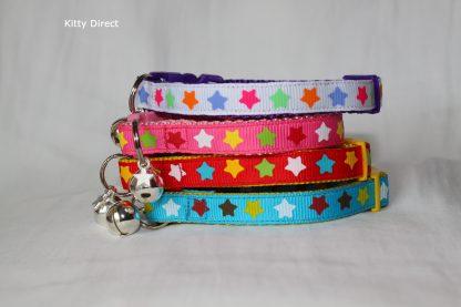 Handmade Fabric Stars Cat Kitten Safety Collar_1