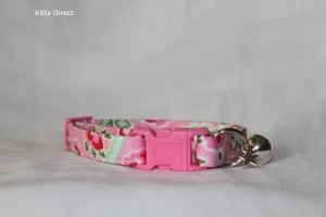 Handmade Cath Kidston Cotton Cat Kitten Safety Collar_3