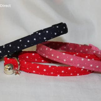 Handmade Cotton Tiny Stars Cat Kitten Safety Collar_20