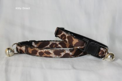 Handmade Leopard Animal Print Cat Kitten Safety Collar_1