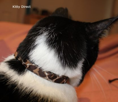 Handmade Leopard Animal Print Cat Kitten Safety Collar_2