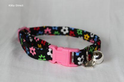 Daisy flower kitten and cat collar 1