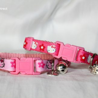 Handmade Pink Hello Kitty Cat Kitten Safety Collar_1