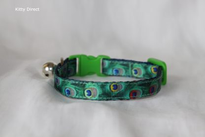 Peacock Green Cat Kitten Safety Collar_1
