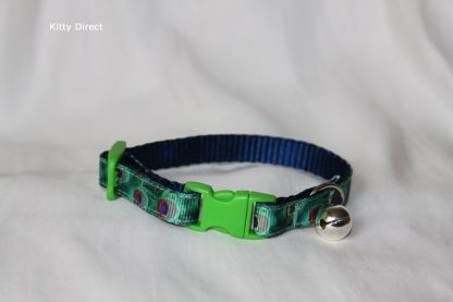 Peacock Green Cat Kitten Safety Collar_2