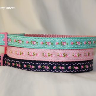 Vintage Print Fabric Cat Kitten Safety Collar _1