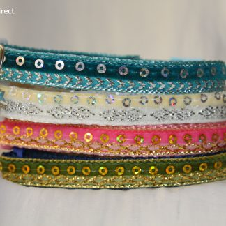 Asian inspired glitter sparkle fabric cat kitten safety collar_1