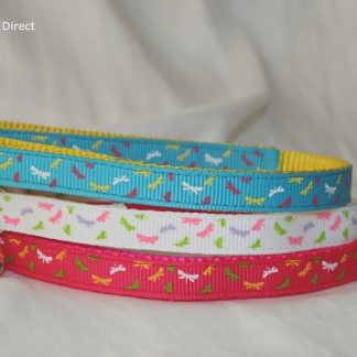 Dragonfly print fabric cat kitten safety collars