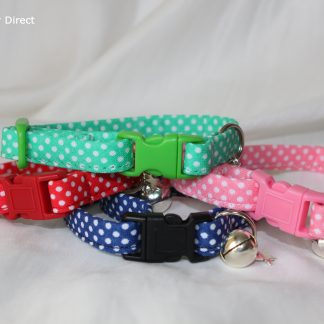 Handmade Polka Dot Cotton Cat Kitten Safety Collars