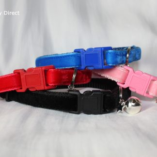 Velvet cat kitten safety collars