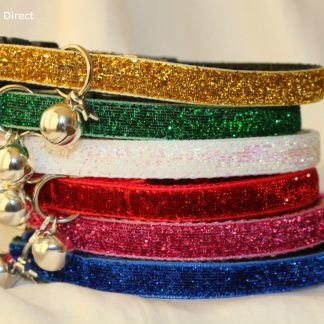 Christmas Xmas Glitter Cat Kitten Safety Collar, Bell, Christmas Charm_9
