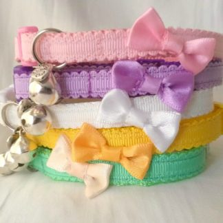 Bow Cat Kitten Safety Collar with Bell