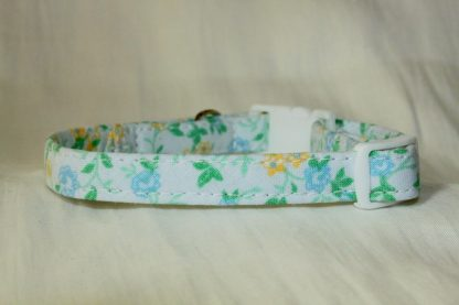 Blue Cotton Flower Cat Kitten Safety Collar_3
