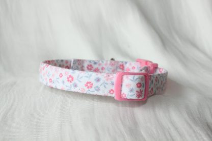Pink Cotton Cat Kitten Safety Collar Ditsy Flowers_3