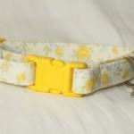 Yellow Fabric Cotton Cat Kitten Safety collar_5