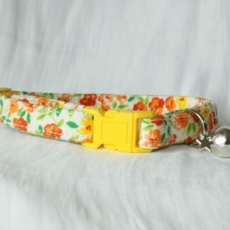 Yellow Flower Cotton Cat Kitten Safety Collar