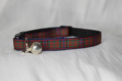 Scottish_Tartan_Plaid Cat Kitten Safety Collar_3