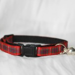 Scottish_Red_Tartan_Plaid Cat Kitten Safety Collar_2