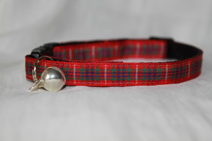 Scottish_Red_Tartan_Plaid Cat Kitten Safety Collar_4