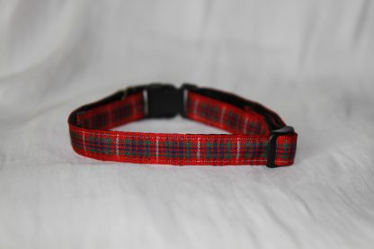 Scottish_Red_Tartan_Plaid Cat Kitten Safety Collar_5