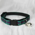 Scottish_Tartan_Green_Plaid Cat Kitten Safety Collar_3