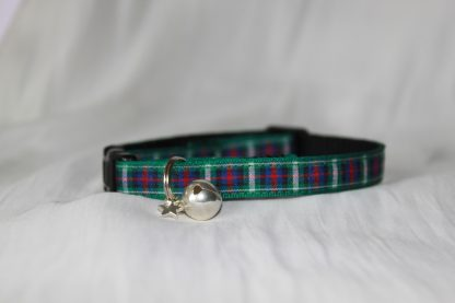 Scottish_Tartan_Green_Plaid Cat Kitten Safety Collar_2