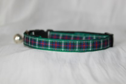 Scottish_Tartan_Green_Plaid Cat Kitten Safety Collar_1