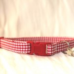 red gingham cotton cat kitten collar_2