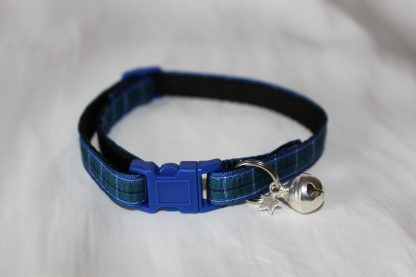 blue tartan cat collar kitty direct_3