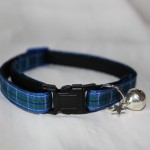 blue tartan cat collar kitty direct_1