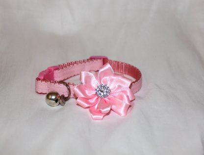 handmade cat kitten pink diamante flower_1e