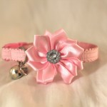 handmade cat kitten pink diamante flower_2ee