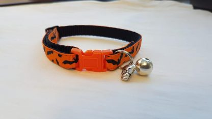 Halloween Cat Kitten Collar Flying Bats_2