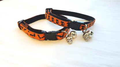 Halloween Cat Kitten Collars Flying Bats and Black Cats_2