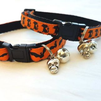 Halloween Cat Kitten Collars Flying Bats and Black Cats_1