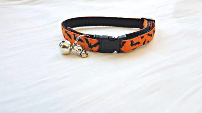 Halloween Cat Kitten Collar Flying Bats_1