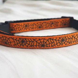 Halloween Spider's Web Cat Kitten collar_black buckle