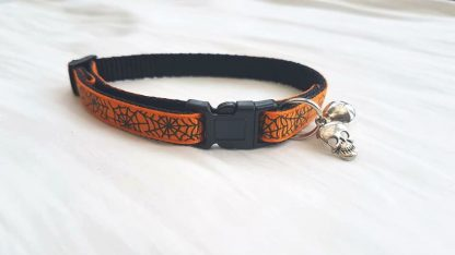 Halloween Spider's Web Cat Kitten collar_1