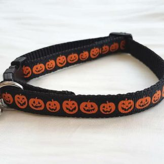 Halloween Pumpkins Cat Kitten Safety collar