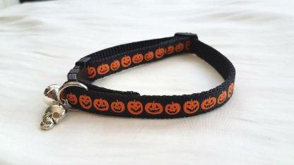 Halloween Pumpkins Cat Kitten Safety collar
