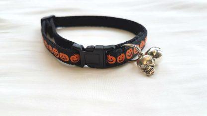 Halloween Pumpkins Cat Kitten Safety collar Black Buckle
