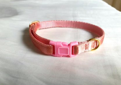 Rose Gold Cat Kitten Collar Handmade to order