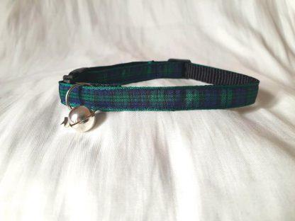 Green Blue Tartan Cat/Kitten Safety collar