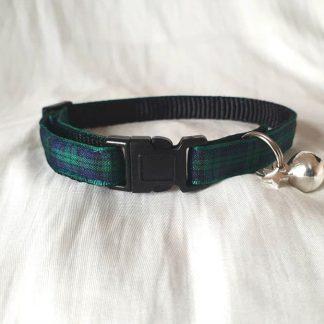 Green Blue Tartan Cat/Kitten Safety collar_3