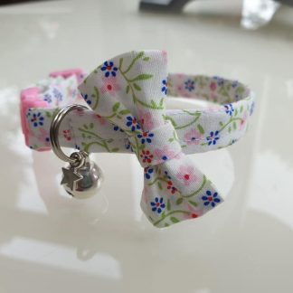 Cotton Bow Pink Daisy Flower Cat Kitten Collar _1