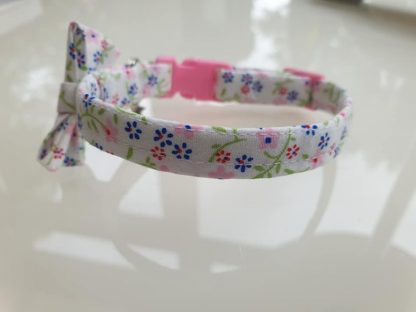 Cotton Bow Pink Daisy Flower Cat Kitten Collar _5