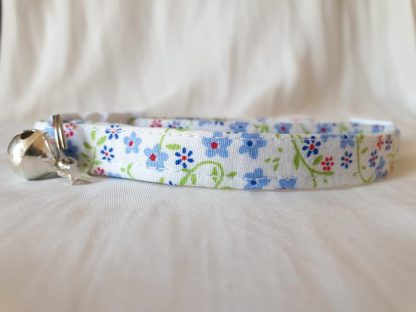 Cotton Bow Blue Daisy Flower Cat Kitten Collar _3